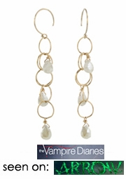 Gemstone Cascade Earrings - Seen on Arrow