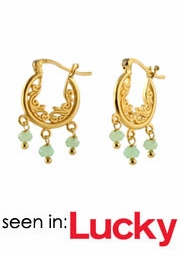 Gemstone Filigree Earrings