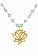 Gemstone Lotus Necklace