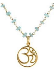 Gemstone Om Necklace