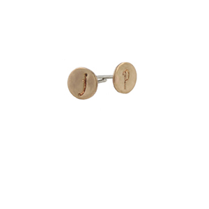 Gold Initial Post Earrings