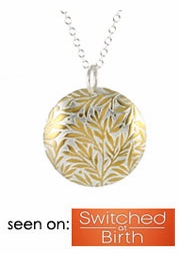 Golden Willow Print Necklace