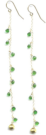 Green Fire Earrings