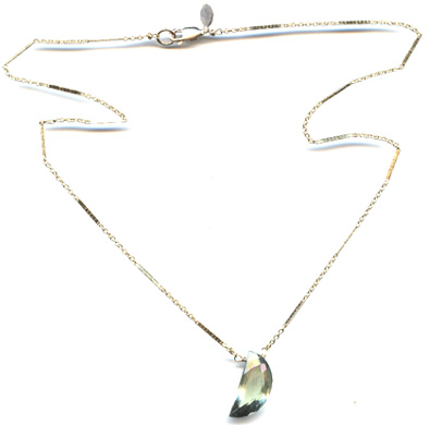 Green Moon Necklace