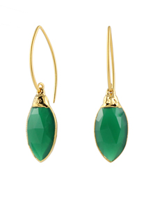Green Onyx Marquise Earrings