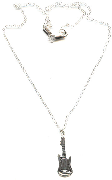 Guitar Girl Necklace -- NA