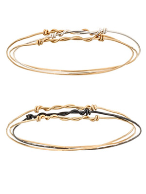 Hammered Bangle Trio