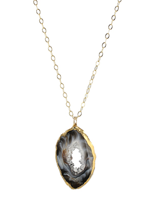 Geode Drusy Slice Necklace