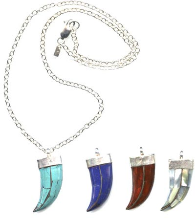 Inlaid Horn Necklaces (3 colors)