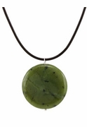 Jade Disk Necklace