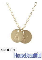 Large Letter Initial Necklace, GF