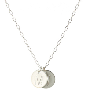 Large Letter Initial Necklace, SS