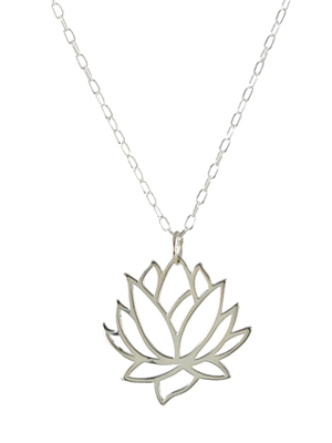Large Lotus Flower Necklace