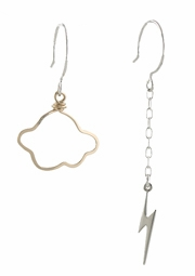 Lightning Bolt and Cloud Earrings