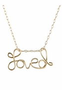Loved Charm Necklace