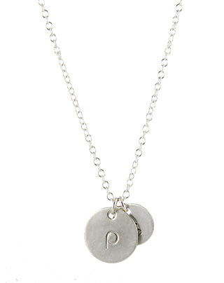 Lowercase Bauhaus Initial Necklace