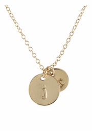 Lowercase Initial Necklace, GF