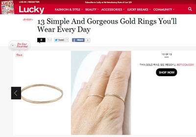 Lucky Simple Rings to Wear Everyday