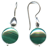 Malachite Disk Earrings
