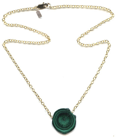 Malachite Medallion Necklace -- NA