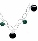 Malchite and Onyx Necklace
