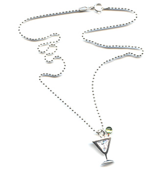 "Martini Glass ""Sex in the City"" Necklace"