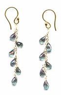 Mermaid Topaz Earrings