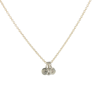 Micro Initial Necklace