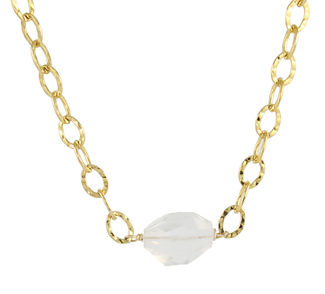 Milk Quartz Stone Necklace