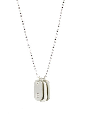 Mini Dogtag Initial Necklace