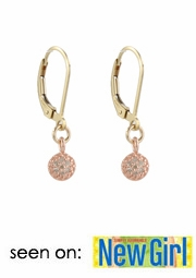 Mini Rose Pave Diamond Earrings