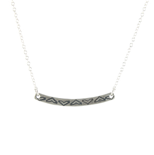 Mini Stamped Arc Necklace