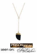 "Mini Tusk Necklace - seen on ""Prison Break"""