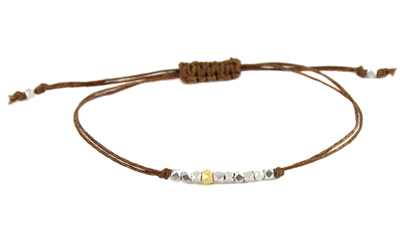 Mixed Bead Linen Bracelet