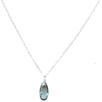 Moss Aquamarine Necklace -- NA