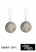 Mother of Pearl Filigree Earrings