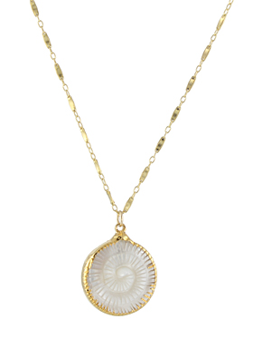 Mother of Pearl Fern Necklace