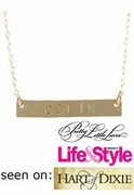 Nameplate Necklace - Seen on Pretty Little Liars