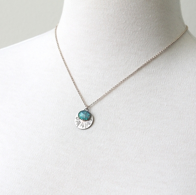 Ocean Blues Opal Necklace