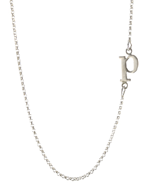 Offset Initial Necklace