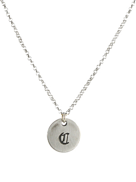 Old English Initial Necklace