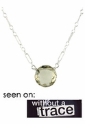Olive Quartz Bubble Necklace