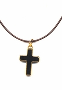 Onyx Cross Necklace
