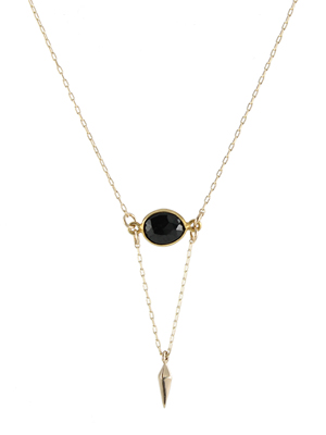 Onyx Point Necklace