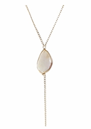 Opal Lariat Necklace