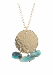Opalite Disc Necklace
