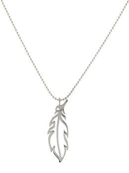 Open Feather Necklace