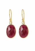 Oval Gem Earrings
