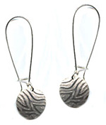 Patterned Disc Earrings