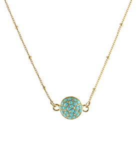 Pave Stone Pendant Necklace